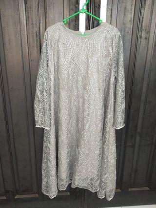 Dress lace payet mutiara
