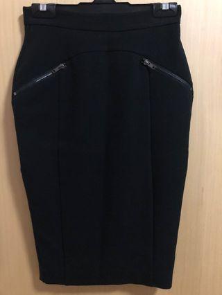 Warehouse black pencil skirt