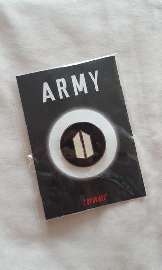 KPOP ENAMEL PIN : ARMY LOGO