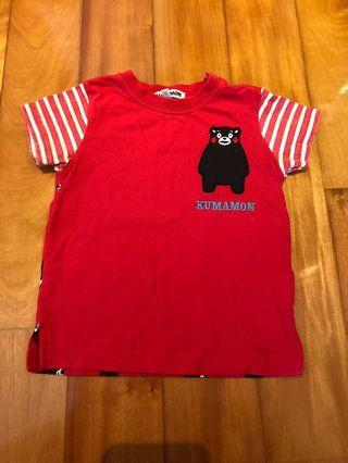 日本 熊本熊 / Kumamon 小朋友 / 小童 / 童裝 Tee / T-shirt / T恤 size 90cm