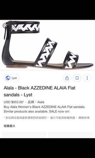 Alaia 黑白涼鞋