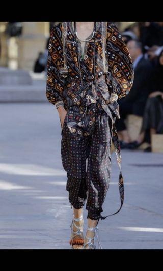 Isabel Marant 印花絲質高腰褲