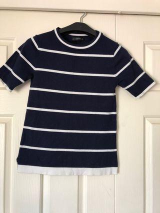 ZARA Knit - Stripped Top 🦓. Size Small • $20