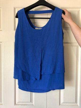 Royal Blue Veronika Maine Blouse