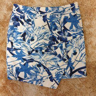 Blue &white floral skirt