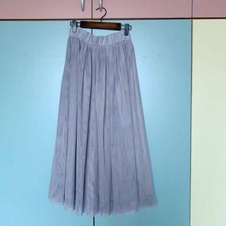 🚚 滿滿仙氣!合購大熱門 錦衣衛 顯瘦新款三層紗裙 煙灰色 80cm