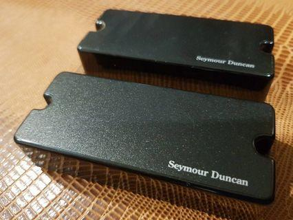 Seymour Duncan AHB-1s 7 string Blackouts Phase II Soapbar active pickups set - (EMG Bareknuckle Boss Ibanez Jackson Ernie Ball Music Man Gibson Les Paul PRS Suhr Fender Strat Stratocaster Marshall Mesa Boogie Engl EVH Orange electric guitar)