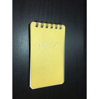 🚚 口袋型 筆記本 黃 約105*62mm