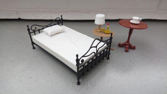 re-ment 食玩 pose skeleton 骷髏 傢俬 床 燈 檯