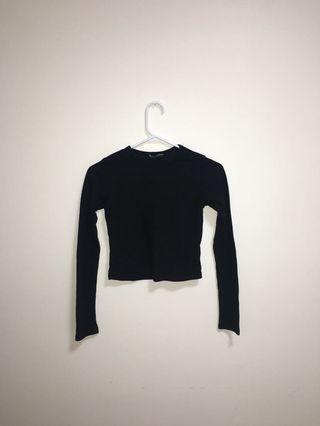 Brandy Melville Cropped Black LongSleeve