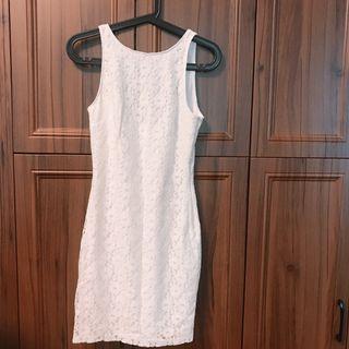 Zara 白色lace 連身裙