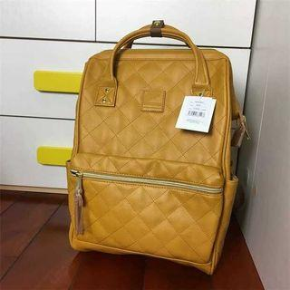 Anello Quilting Mouthpiece backpack Large AH-B3001 - Camel beige