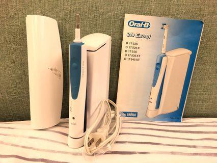 🚚 德國百靈 Oral-B 3D Excel 電動牙刷 (含充電座+4刷頭座+旅行攜帶盒