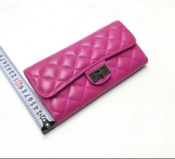 brand new pink leather wallet