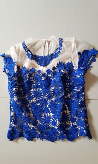 Kebaya biru clasic fashion