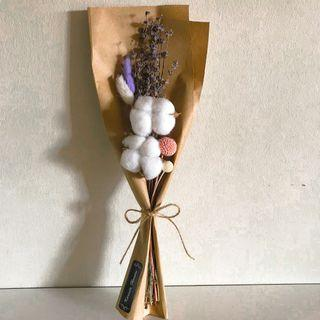 Dried preserved cotton lavender bouquet (Buy 5 get 1 free)