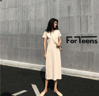Khaki Long Dress