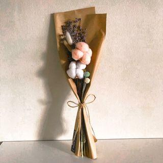 Dried preserved cotton lavender flower bouquet (Buy 5 get 1 free)