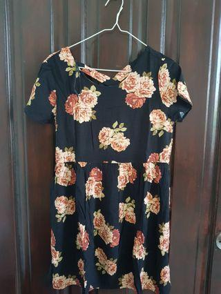 Flower Dress black