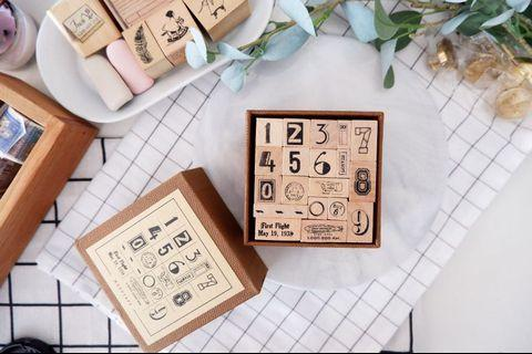 Numbering rubber stamp