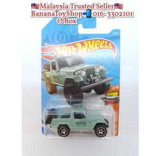 100% Original Mattel Hotwheels 84/250 1967 JEEPSTER COMMANDO Green