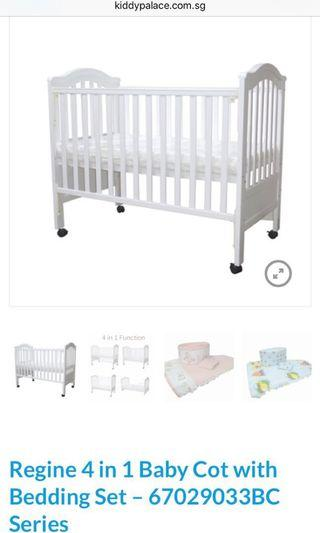 Kiddypalace 4-in-1 cot (frame only)