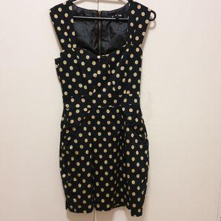 Caroline Morgan black & cream dress