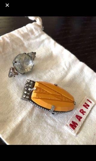 Authentic Marni vintage brooches