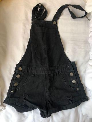Black Overalls / Dungarees