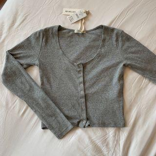 BNWT cotton on ribbed button down henley long sleeve top