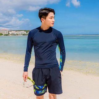 In Stock 💕Men's Korean version of UV Rash Guard, Swimwear, Beach Wear, Sport wear