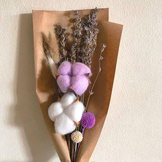 Dried preserved lavender cotton flower bouquet (Buy 5 get 1 free)