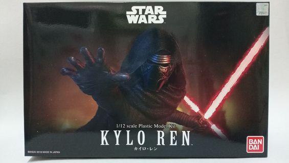 Star Wars 星球大戰 Kylo Ren 1/12 Scale Plastic Model Kit Bandai#MTRssp