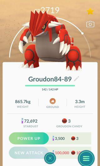 2only!! Legendary Groudon Pokémon go