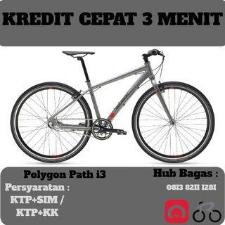 Sepeda Hybrid Polygon Path i3 cicilan tanpa kartu kredit