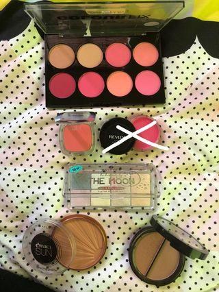 Assorted Blushes, Bronzers and highlighter