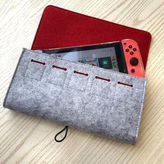 Woven Felt Pouch For Nintendo Switch