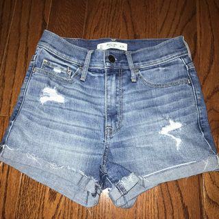 a&f high-waisted shorts