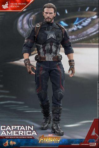 Hot Toys MMS480 Captain America 普版 Avengers: Infinity War 1/6th scale Collectible Figure