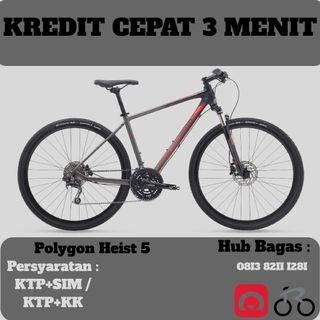 Sepeda Hybrid Polygon Heist 5 cicilan tanpa kartu kredit