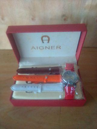 AIGNER strap genuine leather with box