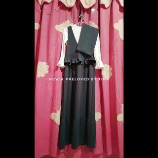 🌼 PRELOVED LIKE NEW🌼  UNBRAND 1Set Gamis Dress Waffel dan Pashmina Ceruti