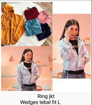 Ring jaket wedges tebal