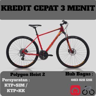 Sepeda Hybrid Polygon Heist 2 cicilan tanpa kartu kredit