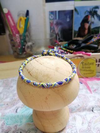 交叉花紋手繩腳繩
