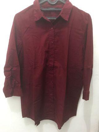 The Executive Kemeja Merah Red T-Shirt