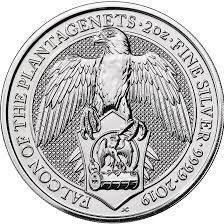 Beast series — falcon 2 oz silver coin 99.99 percent pure silver
