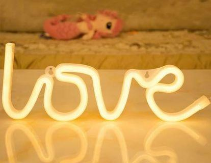 LOVE Led Light Wedding Decor