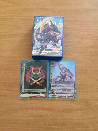 WTT only buddyfight  bladedancers deck with rarity