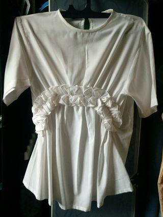#ShopbackCarousell Blouse putih Namirah